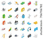 technology icons set. isometric ... | Shutterstock .eps vector #706706782