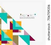 triangle pattern design... | Shutterstock .eps vector #706709206