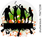 grunge party people | Shutterstock .eps vector #70671238