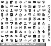 100 business operation icons... | Shutterstock .eps vector #706715206