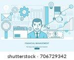 financial management  analysis... | Shutterstock .eps vector #706729342