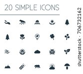 vector illustration set of... | Shutterstock .eps vector #706732162