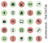 vector illustration set of... | Shutterstock .eps vector #706734736