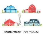 vector flat icon suburban... | Shutterstock .eps vector #706740022