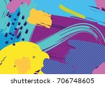 creative geometric colorful... | Shutterstock .eps vector #706748605