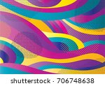 creative geometric colorful... | Shutterstock .eps vector #706748638