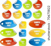 set of stickers or tags | Shutterstock .eps vector #70675822