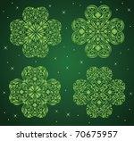 set of a pattern in a shape of... | Shutterstock .eps vector #70675957