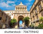 the gate of porto nuovo in... | Shutterstock . vector #706759642