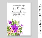 exotic wedding invitation with... | Shutterstock .eps vector #706765255