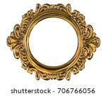 metal frame isolated on a white ... | Shutterstock . vector #706766056