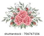 hand painted watercolor... | Shutterstock . vector #706767106