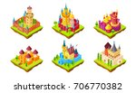set of medieval castles icon... | Shutterstock .eps vector #706770382