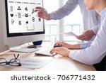 team of project managers... | Shutterstock . vector #706771432