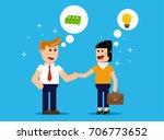 businessmen  and businesswoman... | Shutterstock .eps vector #706773652
