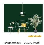 vector interior design... | Shutterstock .eps vector #706774936