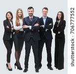group portrait of successful... | Shutterstock . vector #706777552