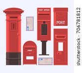 vector illustration of mail... | Shutterstock .eps vector #706781812