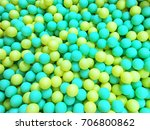 background of colorful ball pool | Shutterstock . vector #706800862