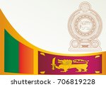 flag of sri lanka  democratic... | Shutterstock .eps vector #706819228