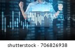 investment concept hand with... | Shutterstock . vector #706826938