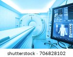 mri scanner room take with art... | Shutterstock . vector #706828102