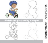 drawing worksheet for preschool ... | Shutterstock .eps vector #706840345