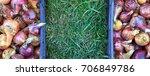 the seasonal harvest of onion... | Shutterstock . vector #706849786