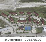 Small photo of apartments in Port Aransas during hurricane Harvey roof damage