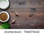 large bowl of pet   cat food... | Shutterstock . vector #706874632