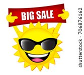 big sale illustration with sun... | Shutterstock . vector #706876162