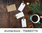 top view christmas holidays... | Shutterstock . vector #706883776
