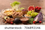 selection of health food | Shutterstock . vector #706892146