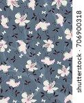 floral print pattern | Shutterstock .eps vector #706900318