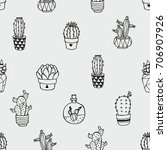 seamless vector pattern with... | Shutterstock .eps vector #706907926
