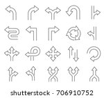 set of direction related vector ... | Shutterstock .eps vector #706910752