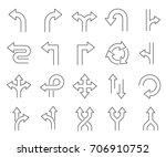 set of direction related vector ... | Shutterstock .eps vector #706910752