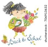 welcome back to school  cute... | Shutterstock . vector #706913632