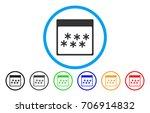 snowflakes calendar page vector ... | Shutterstock .eps vector #706914832