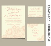 templates of invitation lace... | Shutterstock .eps vector #706919986
