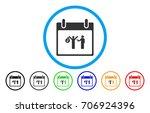 arrest calendar day vector... | Shutterstock .eps vector #706924396