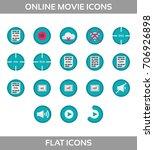 media player icons set.... | Shutterstock .eps vector #706926898