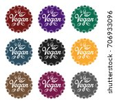 vegan icon in style isolated on ... | Shutterstock .eps vector #706933096