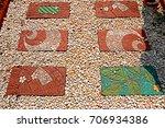 decorative stone pathway | Shutterstock . vector #706934386