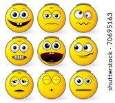 yellow smileys set | Shutterstock . vector #70695163
