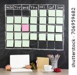 valentines day concept  grid... | Shutterstock . vector #706959682