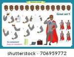 set of heroes business man... | Shutterstock .eps vector #706959772