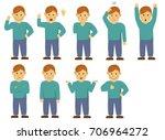action gesture pattern | Shutterstock .eps vector #706964272