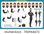 set of businessman character... | Shutterstock .eps vector #706966672