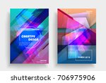 placards with abstract shapes ... | Shutterstock .eps vector #706975906